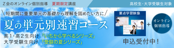 オンライン個別指導「夏の単元別速習コース」