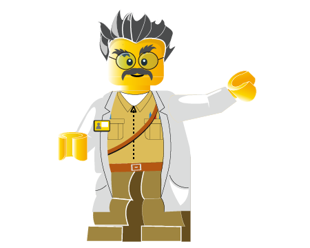 Z会プログラミング講座 with LEGO® Education キャラクター:Dr.Ido